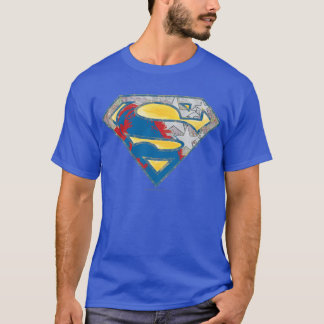 Superman S-Shield | Grey Yellow Red Black Mix Logo T-Shirt