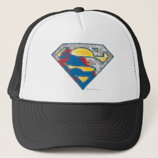 Superman S-Shield | Grey Yellow Red Black Mix Logo Trucker Hat