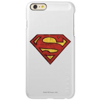 Superman S-Shield | Grunge Black Outline Logo