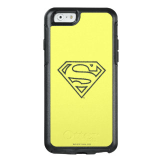 Superman S-Shield | Grunge Black Outline Logo 2 OtterBox iPhone 6/6s Case