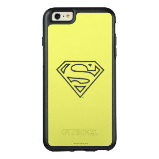 Superman S-Shield | Grunge Black Outline Logo 2 OtterBox iPhone 6/6s Plus Case