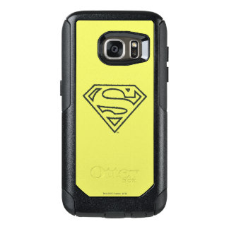 Superman S-Shield | Grunge Black Outline Logo 2 OtterBox Samsung Galaxy S7 Case