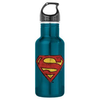 Superman S-Shield | Grunge Black Outline Logo 532 Ml Water Bottle