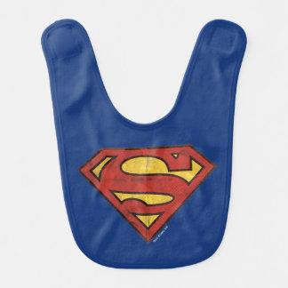 Superman S-Shield | Grunge Black Outline Logo Bib