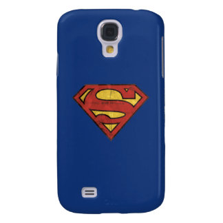 Superman S-Shield   Grunge Black Outline Logo Galaxy S4 Case