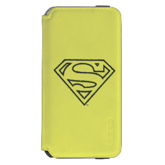 Superman S-Shield | Grunge Black Outline Logo Incipio Watson™ iPhone 6 Wallet Case