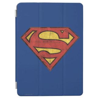 Superman S-Shield | Grunge Black Outline Logo iPad Air Cover