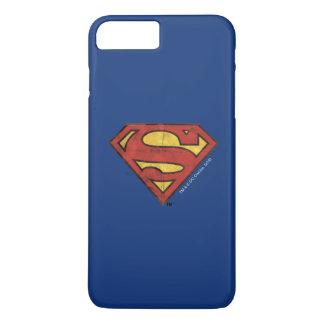 Superman S-Shield | Grunge Black Outline Logo iPhone 8 Plus/7 Plus Case