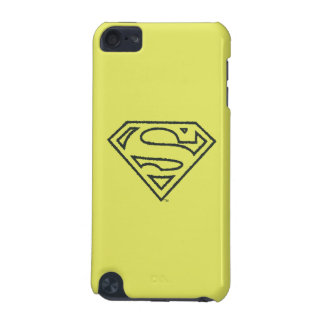Superman S-Shield | Grunge Black Outline Logo iPod Touch 5G Cases