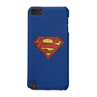 Superman S-Shield | Grunge Black Outline Logo iPod Touch (5th Generation) Cases