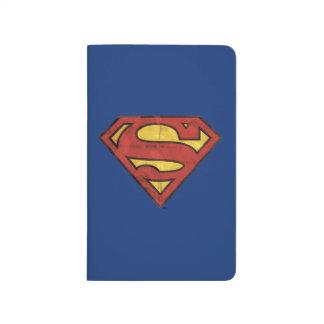 Superman S-Shield | Grunge Black Outline Logo Journal