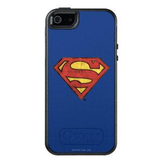 Superman S-Shield | Grunge Black Outline Logo OtterBox iPhone 5/5s/SE Case