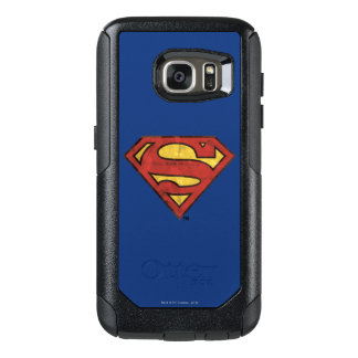 Superman S-Shield | Grunge Black Outline Logo OtterBox Samsung Galaxy S7 Case