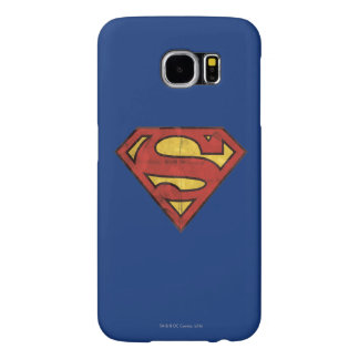 Superman S-Shield | Grunge Black Outline Logo Samsung Galaxy S6 Cases
