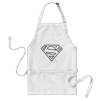 Superman S-Shield | Grunge Black Outline Logo Standard Apron