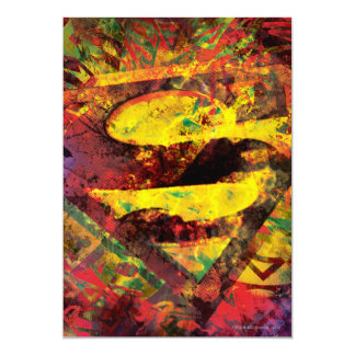 Superman S-Shield | Grunge Logo 13 Cm X 18 Cm Invitation Card
