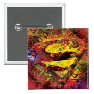 Superman S-Shield | Grunge Logo 15 Cm Square Badge