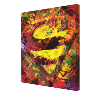 Superman S-Shield | Grunge Logo Canvas Print