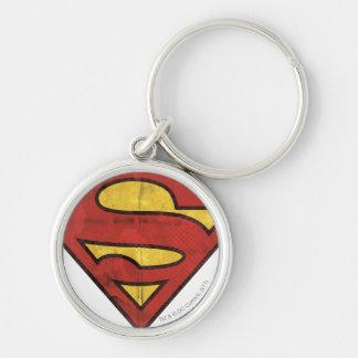 Superman S-Shield | Grunge Logo Key Ring