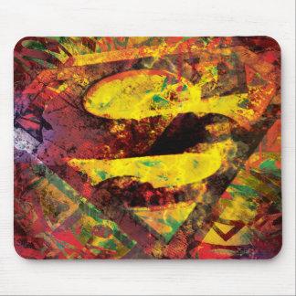 Superman S-Shield | Grunge Logo Mouse Mat