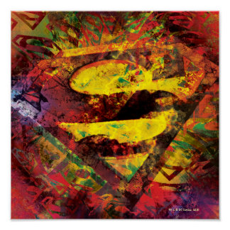 Superman S-Shield | Grunge Logo Poster