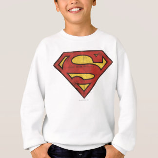 Superman S-Shield | Grunge Logo Sweatshirt
