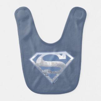 Superman S-Shield | Light Blue City Logo Baby Bib
