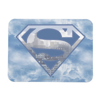Superman S-Shield | Light Blue City Logo Magnet