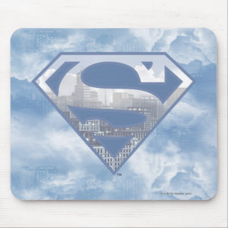 Superman S-Shield | Light Blue City Logo Mouse Mat