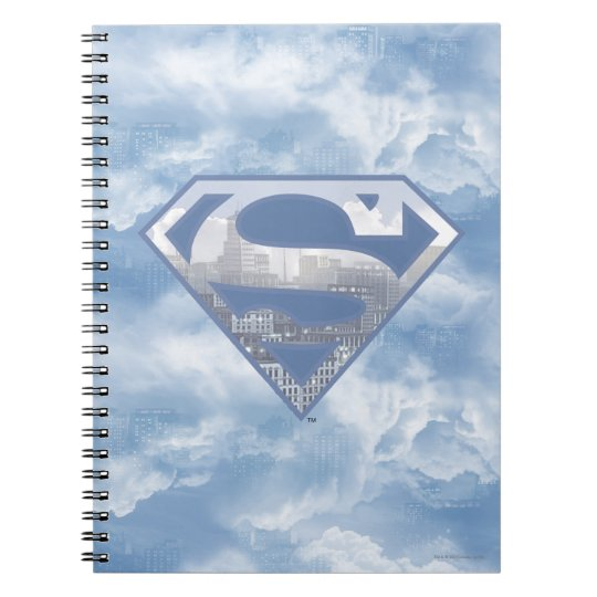 Superman S-Shield | Light Blue City Logo Notebook