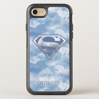 Superman S-Shield | Light Blue City Logo OtterBox Symmetry iPhone 8/7 Case