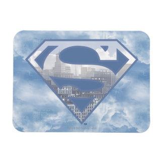 Superman S-Shield | Light Blue City Logo Rectangular Photo Magnet