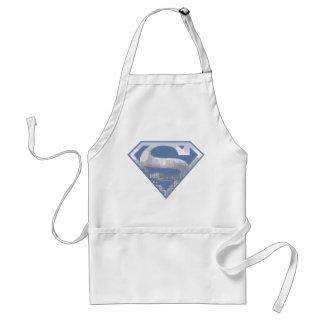Superman S-Shield   Light Blue City Logo Standard Apron