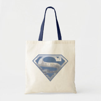 Superman S-Shield | Light Blue City Logo Tote Bag