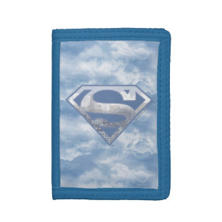 Superman S-Shield | Light Blue City Logo Trifold Wallets