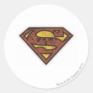 Superman S-Shield | Newspaper Logo Classic Round Sticker