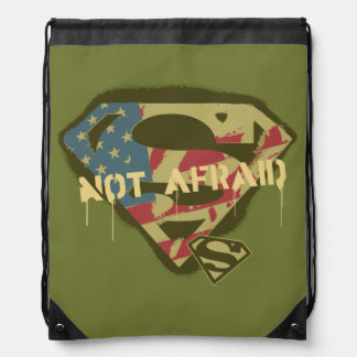 Superman S-Shield | Not Afraid Logo Drawstring Bag
