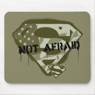 Superman S-Shield | Not Afraid - US Camo Logo Mouse Pad