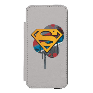 Superman S-Shield | Orange with Paint Incipio Watson™ iPhone 5 Wallet Case