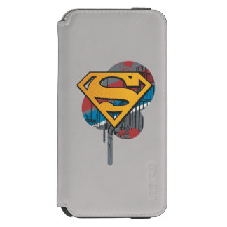 Superman S-Shield | Orange with Paint Incipio Watson™ iPhone 6 Wallet Case