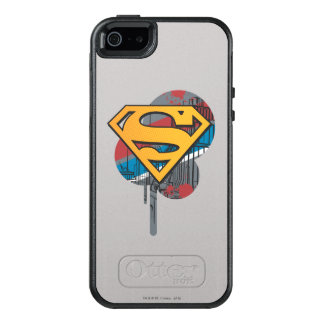 Superman S-Shield | Orange with Paint OtterBox iPhone 5/5s/SE Case