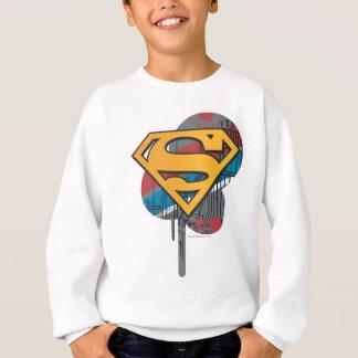 Superman S-Shield | Orange with Paint Sweatshirt