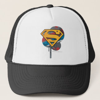 Superman S-Shield | Orange with Paint Trucker Hat