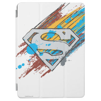 Superman S-Shield   Paint Streaks Logo iPad Air Cover
