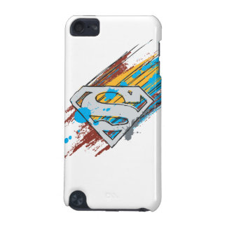 Superman S-Shield | Paint Streaks Logo iPod Touch (5th Generation) Case