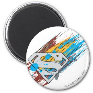 Superman S-Shield   Paint Streaks Logo Magnet