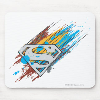 Superman S-Shield   Paint Streaks Logo Mouse Mat