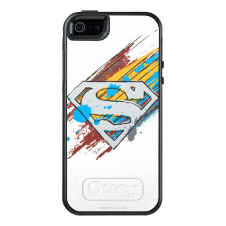 Superman S-Shield | Paint Streaks Logo OtterBox iPhone 5/5s/SE Case