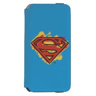 Superman S-Shield | Painted Blue Background Logo Incipio Watson™ iPhone 6 Wallet Case