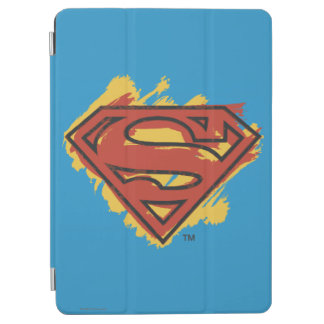 Superman S-Shield | Painted Blue Background Logo iPad Air Cover